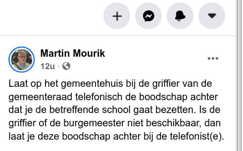Martin Maurik roept op scholen te bezetten