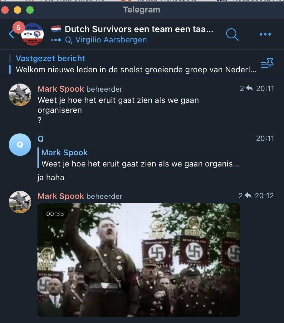 Nazi en Hitler fan Mark Spook in Dutch Survivers
