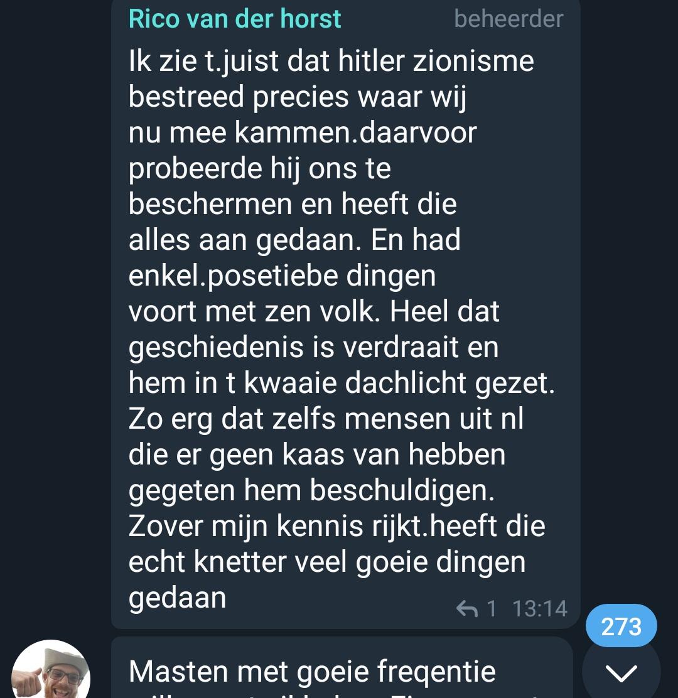 Hitler fan Rico van der Horst