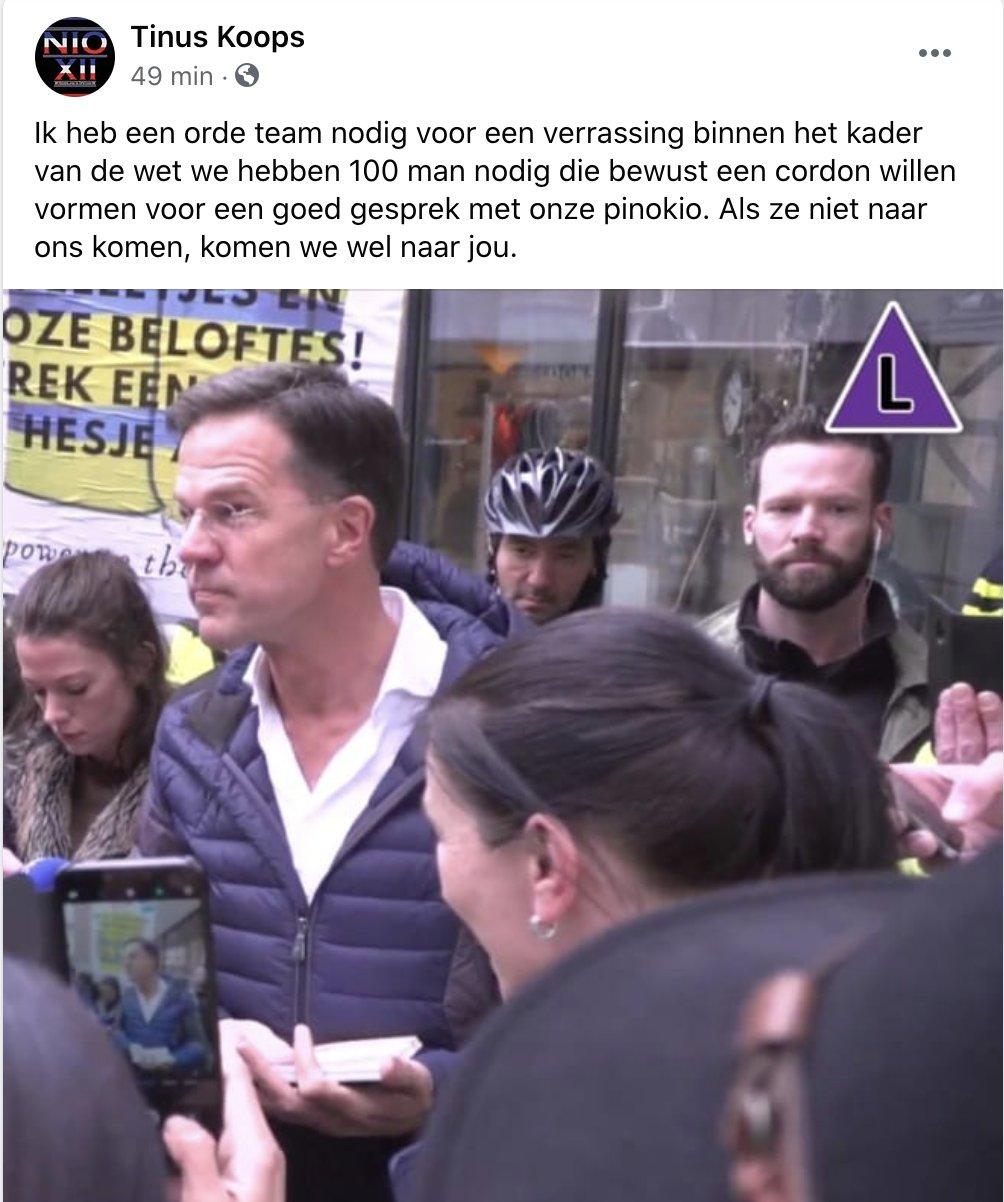 Tinus Koops bedreigt minister president Rutte