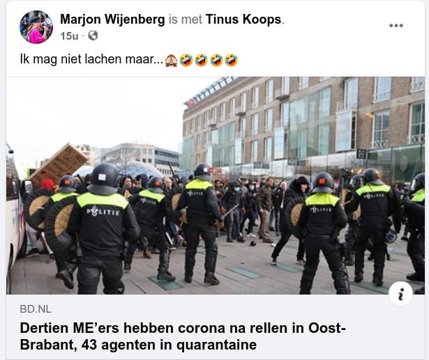 Feestvierende aso Marjon Wijenberg met meerdere gelukte besmettingen