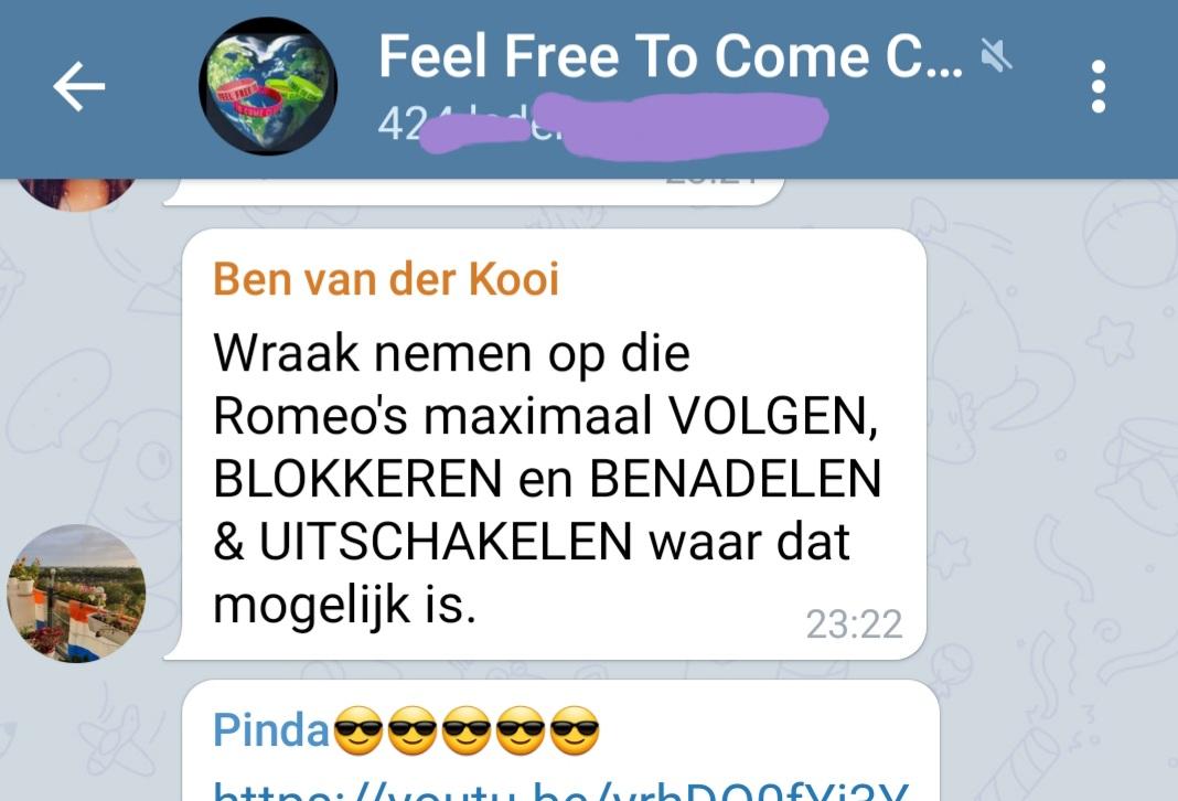 1 van de vele bedreigingen van Fascist Henk Kooi