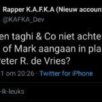 Mislukte rapper Convex Kafka (Bouke van de Vrugt) roept op tot huurmoord.