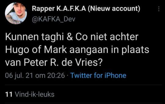 mislukte rapper Convex Kafka (Bouke van de Vrugt)